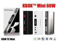 Wholesale Kanger Kbox Mini Platinum W TC mod subox mini kit mod W mod Temp Control Support ohm for Subtank TFV4 atomizer