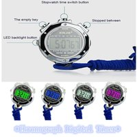 Wholesale 1Pcs Gadgets Chronograph Metal Digital Sports Timer Stopwatch w Lanyard and Whistle you must be like it