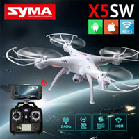 Wholesale Original SYMA X5SW SYMA X5SW fpv WIFI RC Drone fpv Quadcopter with Camera Headless G Axis Real Time RC Helicopter Quad copter Toys