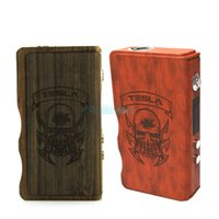 vapor mods - Authentic Tesla W Wood Box Mod Electronic Cigarette Adjustable Wattage Watts Mechanical Mod Sub Ohm Vapor Mods Fit All RDA Atomizers