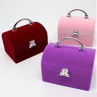 Discount jewellery box gifts - Luxury Velvet Ring Rings Necklace Pendant Jewellery Case Gift Box