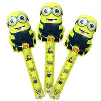 Multicolor balloon designs - Hot cm Despicable ME Minion cheering sticks balloons cartoon design baloons inflatable ballon sticks
