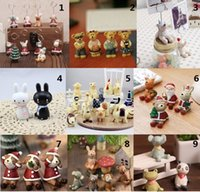 resin christmas ornaments - 2015 Unique Creative christmas gift Painted carved animals animation Resin crafts ornaments groceries support MIX