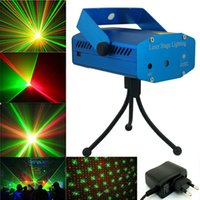Wholesale 150MW Mini Moving Stage Laser Lights Projectors Red Green LED RG For Music Disco DJ Party Xmas Show Light Projector With Tripod