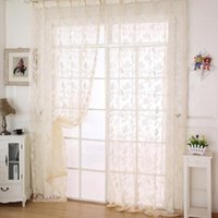 best screen doors - The Best Price For Fashion Tulle Floral Door Balcony Curtain Panel Sheer Scarfs Window Screens