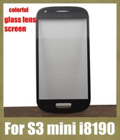 Cheap outer glass lens screen repair parts for touch screen cellphone fit for samsung s3 mini i8190 scratch proof multi color free shipping SNP012