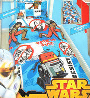 Wholesale STAR WARS Bedding set Kids Bed Set boys girls student Duvet Cover bed sheet Pillow case Queen Size set Cotton
