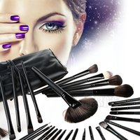 best cheap brushes - TOP Available Makeup Brush Sets PU Pouch Cheap Makeup Brush Kits Aluminum Hair Holder Best Makeup Brushes