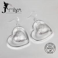 best design chandelier - 2016 New desgin best gift silver earring for women two heart design christmas jewelry