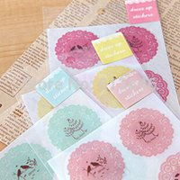 Wholesale NEW sweet lace waterproof PVC stickers sheet pc Decoration label DIY Multifunction