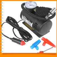 Wholesale 2015newPortable V W PSI Electric Car Tire Tyre Inflator Pump Auto Car Pump Air Compressor with Pneumatic Nozzle