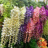 Wholesale 200pcs Wisteria Wedding Decor cm cm colors Artificial Decorative Flowers Garlands for Party Wedding Home For