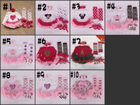Wholesale EMS long sleeved Girls Newborn Christmas Rompers Tutu Dress set Halloween romper Ruffle lace legwarmer headband shoes WD921