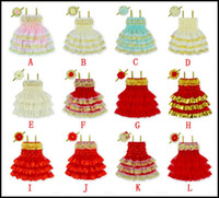 baby gear clothes - Prettybaby Girls Christmas Layered lace dresses baby girl cute sundress each match a pearled head gear Kids Xmas skirt clothing Pt0051