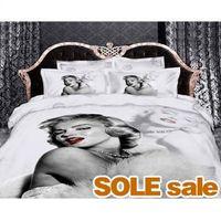 Cheap Grey Marilyn Monroe Bedding 3D Duvet Cover Set, 3D Bed Sheets,Cotton Queen King Size 3D Bedding, 3D Bedding Sets
