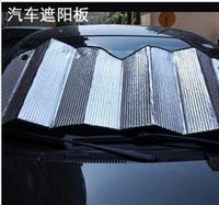 Wholesale Plus size For car sun visor aluminum foil front window sun shading stoopable sunscreen sun shading buffer type