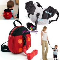 beauty bats shipping - Baby Toddler Safety Beauty Fashion Backpack Walker Strap Reins Ladybug Bat New and High Quality