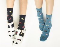 afternoon snacks - women s socks New South Korean cartoon snack food sushi afternoon tea lady short tube cotton socks code
