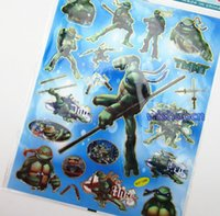 Wholesale New set Teenage Mutant Ninja Turtles Kids Small Classic Toys Stickers cm JT5