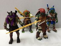 Wholesale New TMNT Teenage Mutant Ninja Turtles Movie Version quot Action Figure set Collection PVC Toys with weapons inch by DHL sets