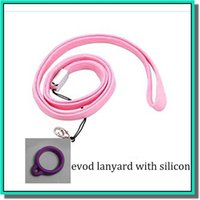 Wholesale Top selling silicone ego necklace ego silicone lanyard ego necklace ring silicone ego lanyard necklace with silicone ring for ego evod ecig
