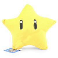 Cheap Super Mario Bros Plush Toys Yellow Star Pillow Plush Doll Mario Stuffed Animals Mario Brothers Toys SM017