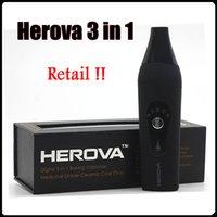 E Kit de Cigarrillos Herova 3 en 1 Vaporizadores Kit de Vaporizadores de Hierba Seca o Cera Disponible Kit de Cera de Vaporizador