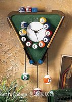 alarm pocket watch - Billiards Snooker timepiece clock wall clock wall clock mute creative personality fashion art lamp phone pocket watch