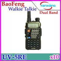 Wholesale BaoFeng UV5RE Dual Band VHF MHz UHF MHz W CH Walkie Talkie Way radio with LCD Display RW WK