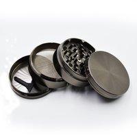 Wholesale Metal Machine Herb Grinder Parts Gunblack Zinc Alloy MM CNC Teeth Herb Grinder On Sale