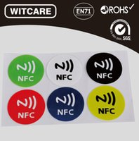 Wholesale NFC Tag Sticker Ntag203 MHZ for Sony Samsung Note3 Galaxy S4 Lumia920 Nexus4 BlackBerry HTC