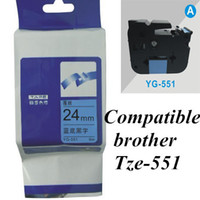 printer ribbon - 24mm black on blue TZe brother Label Tape Compatible for Brother P Touch brother printer ribbons