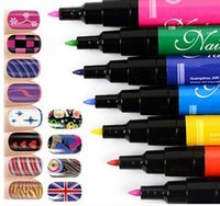 Wholesale LJJD3497 High Quality Hot Design Pro Nail Art Pen Painting Paint Drawing Pen Nail Tools Manicures