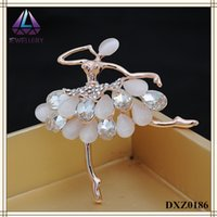 best indian wedding dress - Best Selling YiWu Accessories For Dress Dancer Shape Brooch With Teardrop Crystal And Opal
