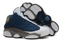 Wholesale Nike Air Men s Jordan XIII RETRO quot FLINT quot A French Basketball Shoes Cheap Good Quality Men Sports Shoes Leather Basketball Shoes