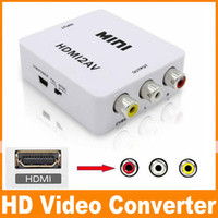 1080P HDMI à convertisseur AV RCA CVBS Audio Video Adapter Pour HDTV 165 Chip Mini HDMI2AV 50pcs DHL Livraison gratuite OM-CD8