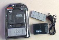 Wholesale Mini Port P Video HDMI Switch HDMI Switcher HDMI Splitter with IR Remote splitter box Free DHL