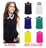 Images of Sleeveless Collared Shirt Womens - Fashion Trends and Models