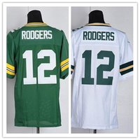 Wholesale Cheap Packers Aaron Rodgers Jersey Elite American Football Jerseys Embroidery Logo Mix Order