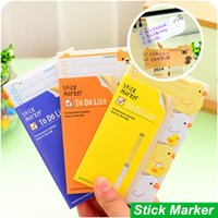 Wholesale 6 Stick Marker Cute animal to do list stickers Post it sticky notes stationery office material School supplies