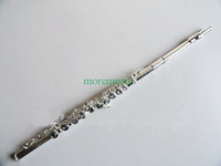 Wholesale 16 holes Silver Flutes s Style open pore Flute with case Woodwind made in china