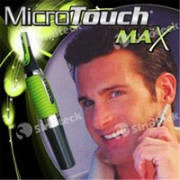 Wholesale Micro Touch Magic Max Facial Cleaner Battery Powered Men Shaver Ears Hair Trimmer Shaver Built In Light Free DHL Factory Direct