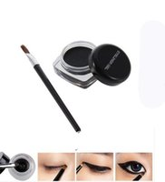 cream eye liner - 1 New black Cosmetic Waterproof Eye Liner pencil make up liquid Eyeliner Shadow Gel Makeup Brush Black