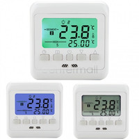 Wholesale Weekly Programmable Floor Heating LCD Display Thermostat Room Temperature Controller Thermometer