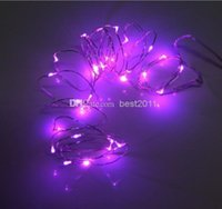 Wholesale Sparkling Lights Battery Operated White - free shipping led copper string New 2M 20 LEDs Battery Operated Mini LED Copper Wire String Fairy Sparkle Lights Party Xmas 50pcs MOQ