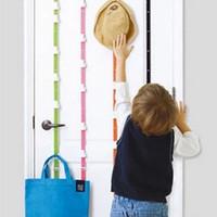 Wholesale 180 cm Over Door Hat Bag Clothes Rack Holder Organizer Adjustable Straps Hanger Hooks