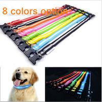 light up products - 15 off fashion Glow LED Adjustable Pet dog Cat collars Flashing Light Up Nylon Collar Night Safety Collars Supplies Products Color