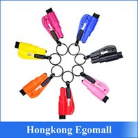 glass cutter - Seatbelt Cutter Emergency Glass Breaker KeyChain Tool Smart AUTO Emergency Safety Hammer Escape Lift Save Tool SOS Whistle