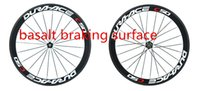 best road wheelset - Top sale best quality white red mm full carbon road bike wheels k T1000 mm with bicycle wheels with basalt braking surface wheelset