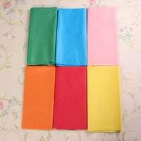 Wholesale High quality x138cm Plastic Solid Tablecloths Rectangle Covers Oblong Birthday Weddings Party Baby Shower Decoration order lt no track